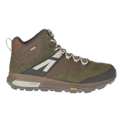 Merrell Men's Zion Mid Waterproof Hiking Boots Dkolive