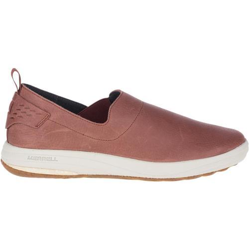Merrell Women's Gridway Moc Leather Shoes Raisin