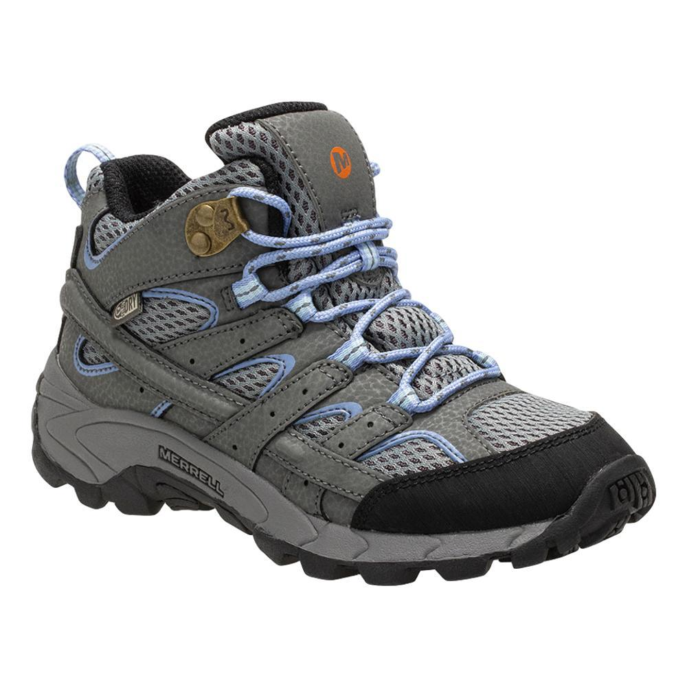 Merrell Big Kids Moab 2 Mid Waterproof Hiking Boots GREYPERI
