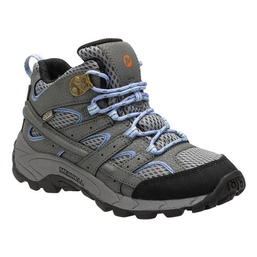 Merrell Big Kids Moab 2 Mid Waterproof Hiking Boots Greyperi