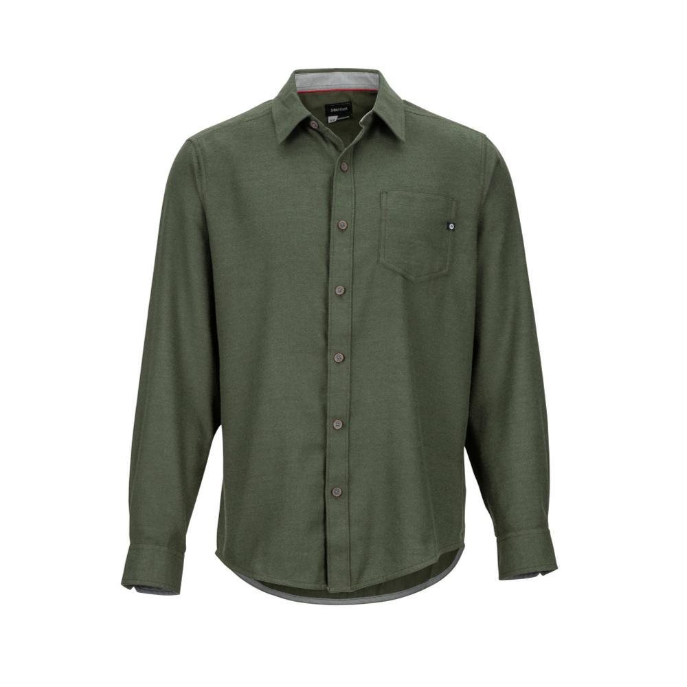 Marmot Men's Hobson Midweight Flannel Long-Sleeve Shirt GREENHTR4872