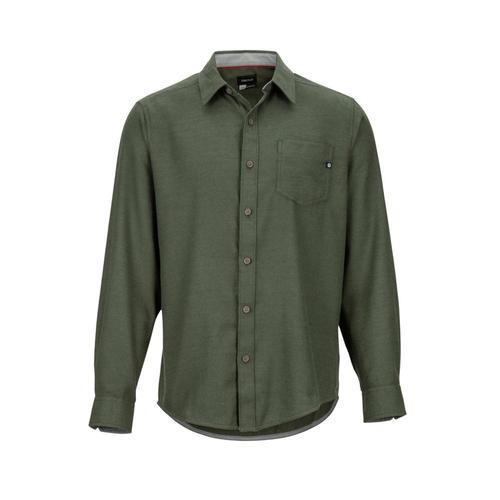 Marmot Men's Hobson Midweight Flannel Long-Sleeve Shirt Greenhtr4872