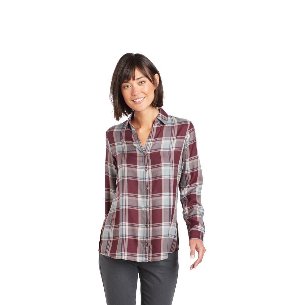KUHL Women's Adelaide Long Sleeve Shirt WINE