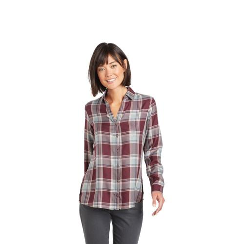KUHL Women's Adelaide Long Sleeve Shirt Wine