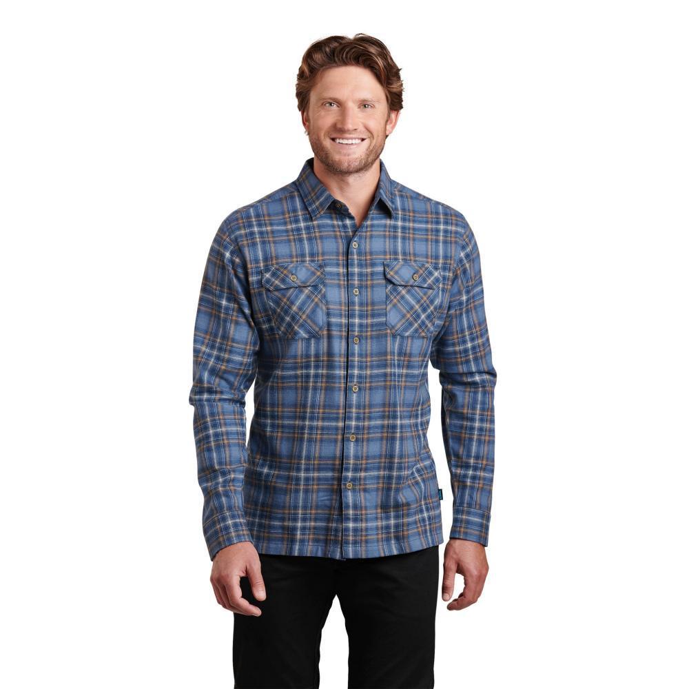 KUHL Men's Dillingr Long Sleeve Shirt STARBLUE