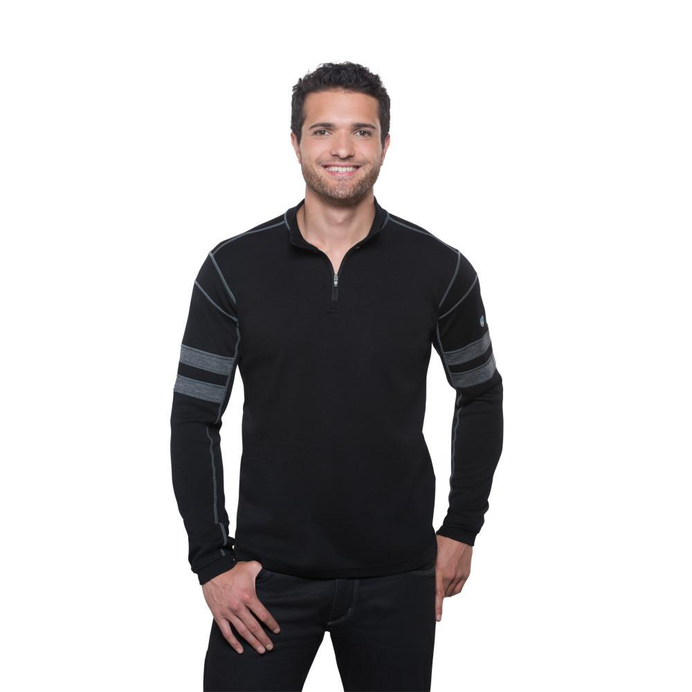 KUHL Men's Team 1/4 Zip Sweater BLACK