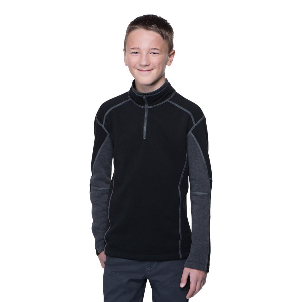 KUHL Boys Revel 1/4 Zip Sweater BLACK