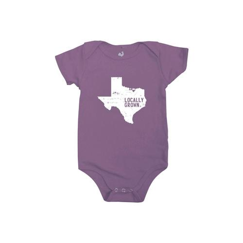 Locally Grown Baby Texas Solid State One-piece Eggprpl