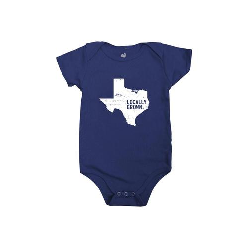 Locally Grown Baby Texas Solid State One-piece Navy