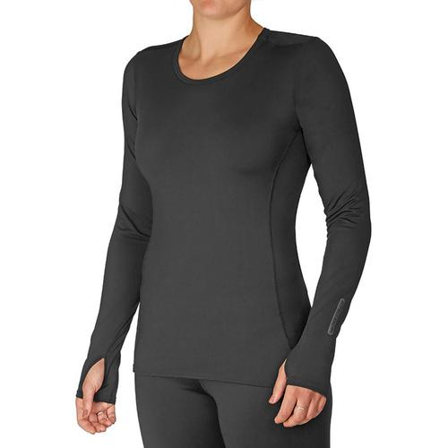 Hot Chillys Women's Micro-Elite Chamois Crewneck Black_101