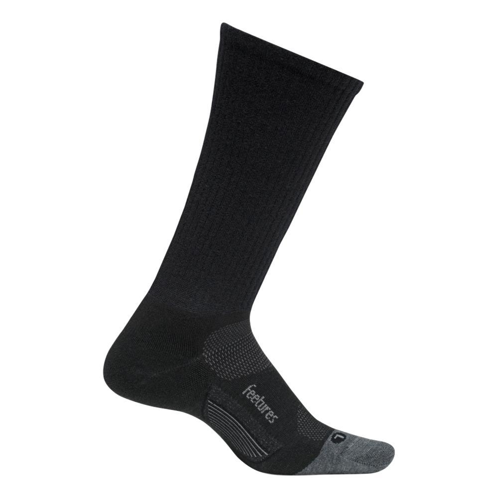 Feetures Merino 10 Light Cushion Crew Socks CHARCOAL