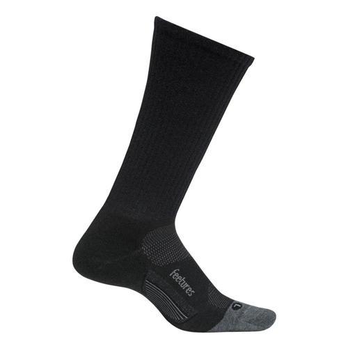 Feetures Merino 10 Light Cushion Crew Socks Charcoal