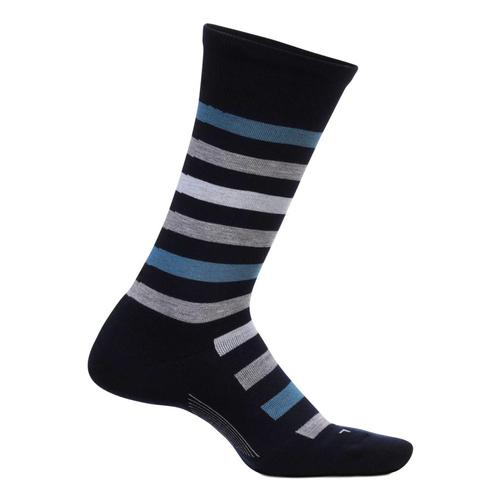 Feetures Men's Everyday Atherton Cushion Crew Socks Navy