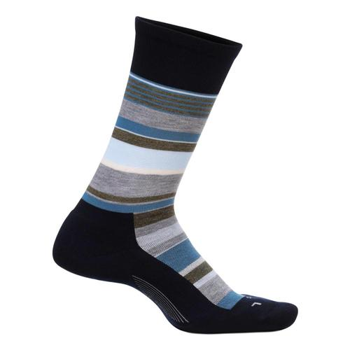 Feetures Men's Be Bold Cushion Crew Socks Navy