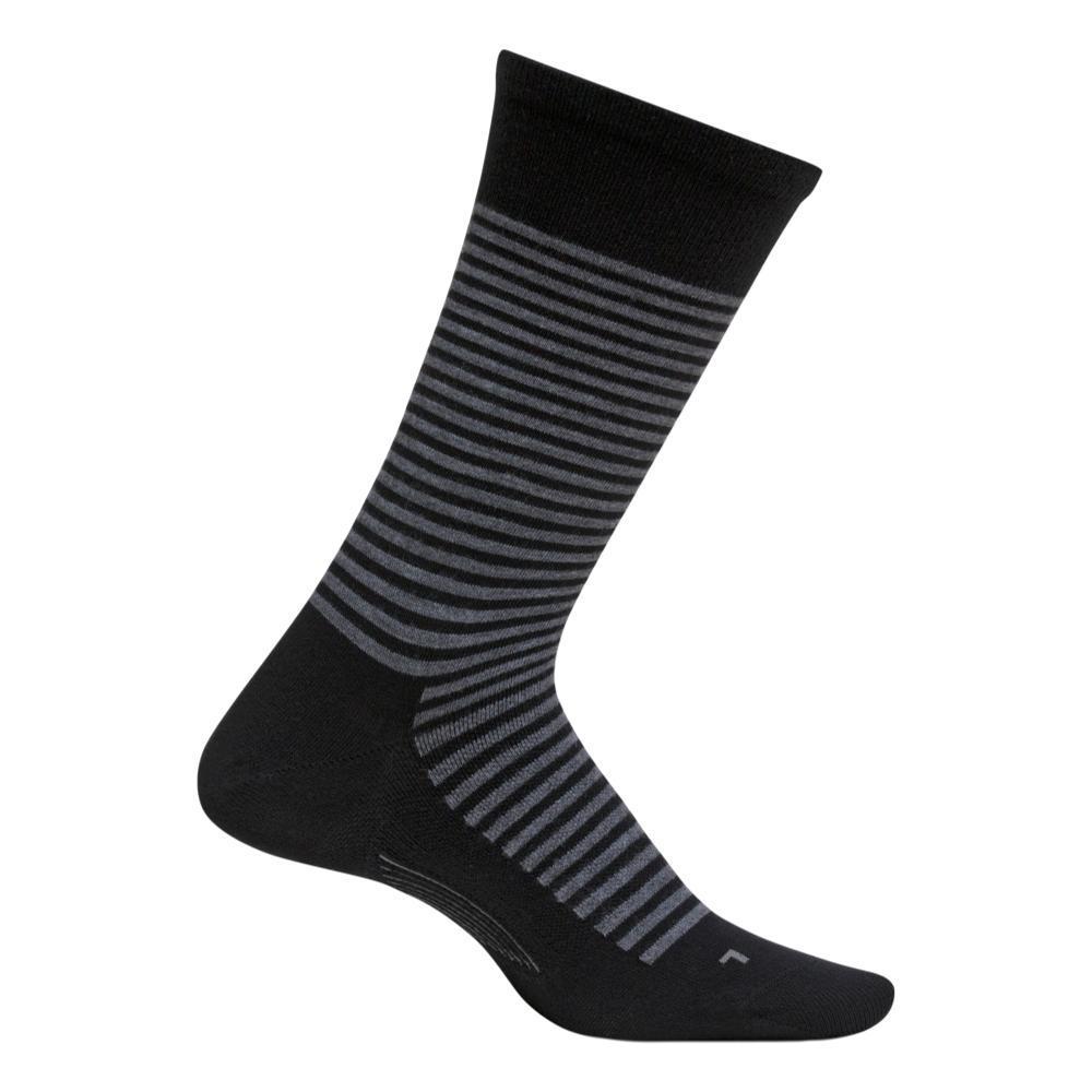 Feetures Men's Uptown Ultra Light Crew Socks BLACK