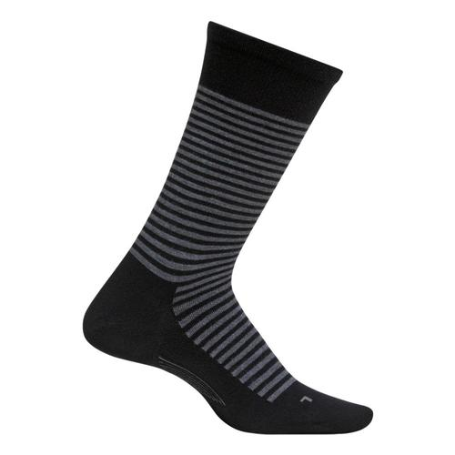 Feetures Men's Uptown Ultra Light Crew Socks Black