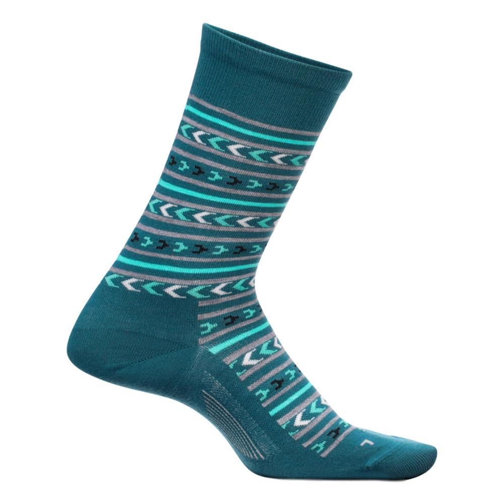 Feetures Women's Everyday Momentum Ultra Light Crew Socks EVERGLADE