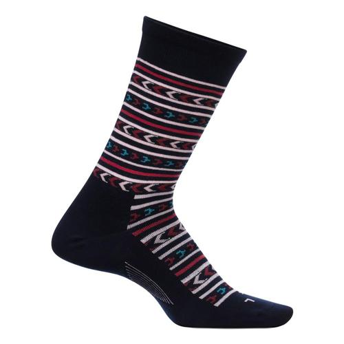 Feetures Women's Everyday Momentum Ultra Light Crew Socks Navy