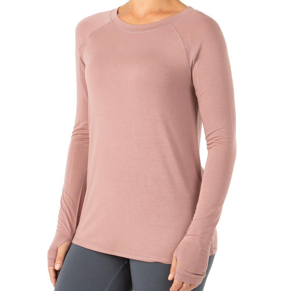 Free Fly Women's Bamboo Midweight Long Sleeve Top SANGRIA_118