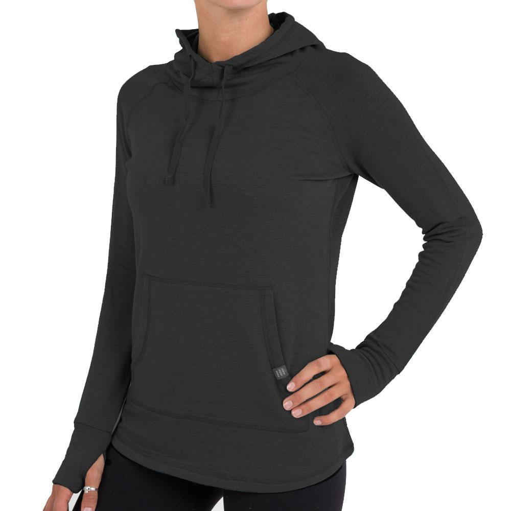 Free Fly Women's Bamboo Fleece Pullover Hoody BLACK_106