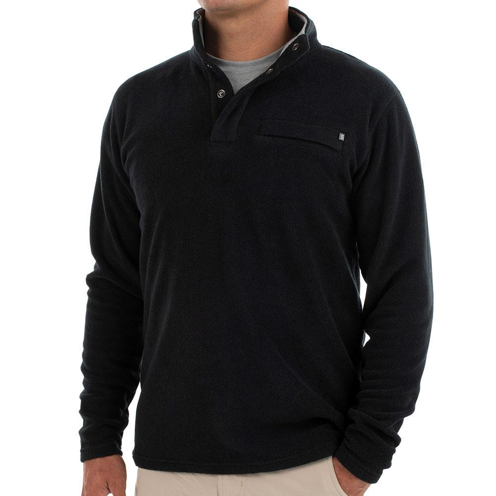 Free Fly Men's Bamboo Polar Fleece Snap Pullover BLACK101