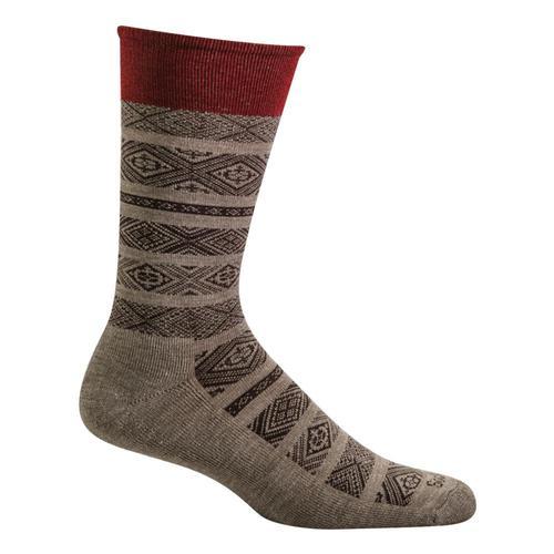SockWell Men's Baja Essential Comfort Socks Khaki_030
