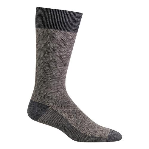 SockWell Men's Fiber Optics Essential Comfort Socks Ltgrey_800