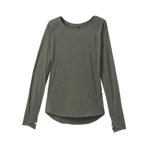 prAna Women's Iselle Long Sleeve Top Ryegreen