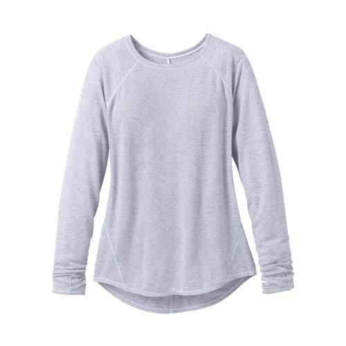 prAna Women's Iselle Long Sleeve Top Silverhthr