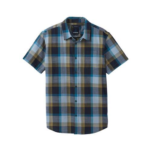 prAna Men's Benton Shirt - Slim Rockblue