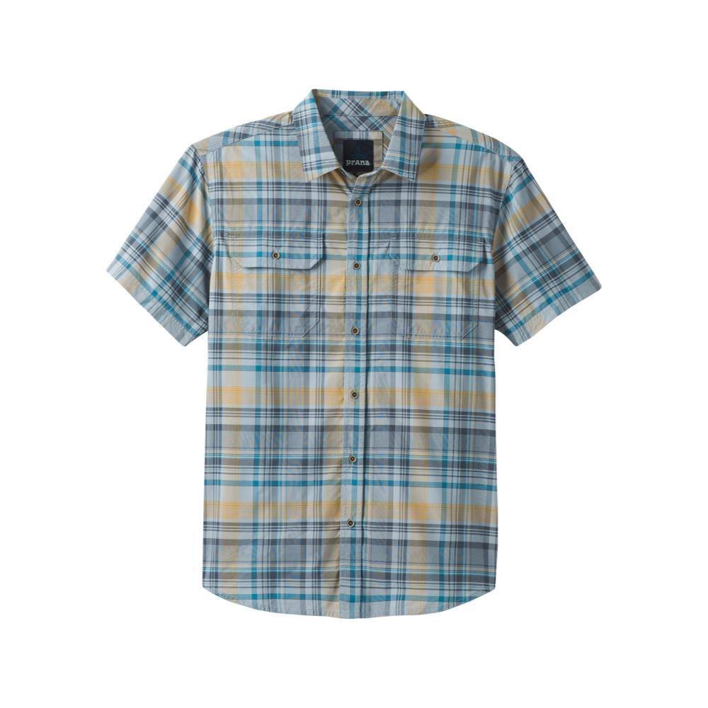 prAna Men's Cayman Plaid Short Sleeve Shirt RAIN