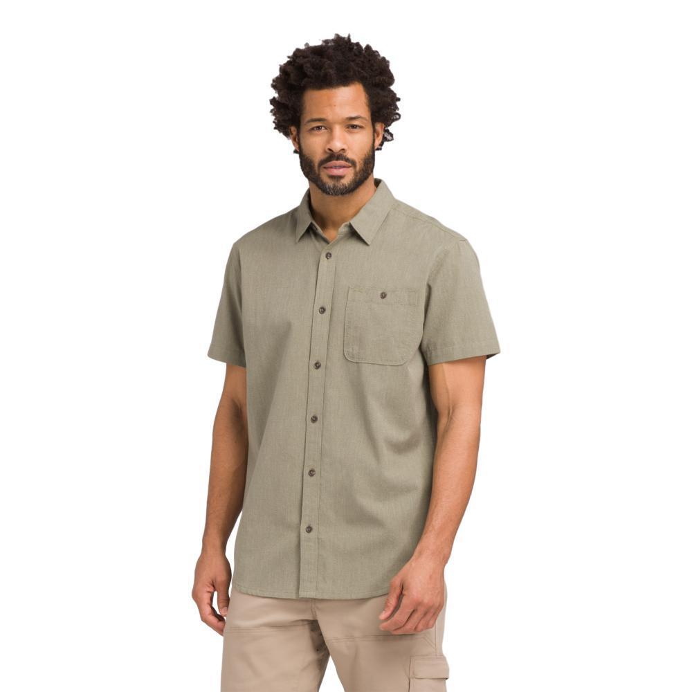 prAna Men's Jaffra Short Sleeve Shirt RYEGRN