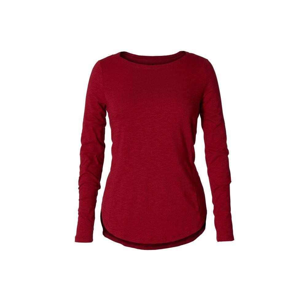 Royal Robbins Women's Yosemite Slub Boat Neck Long Sleeve Top RHUBARB_316