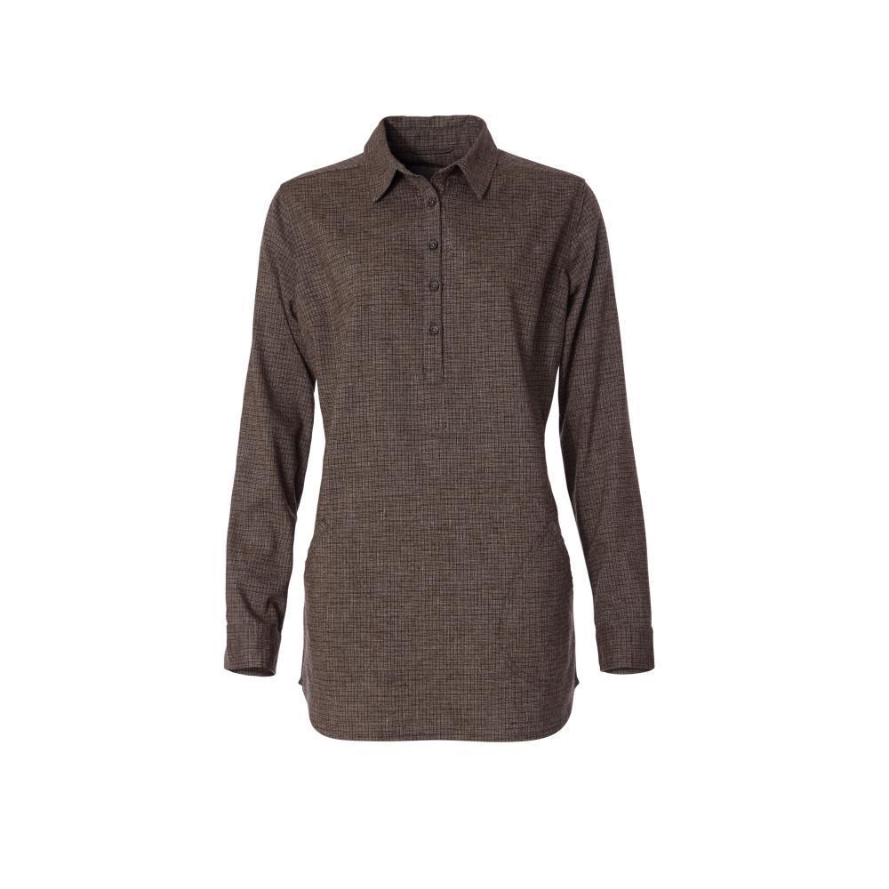 Royal Robbins Women's Hemp Blend Long Sleeve Shirt COFFEE_127
