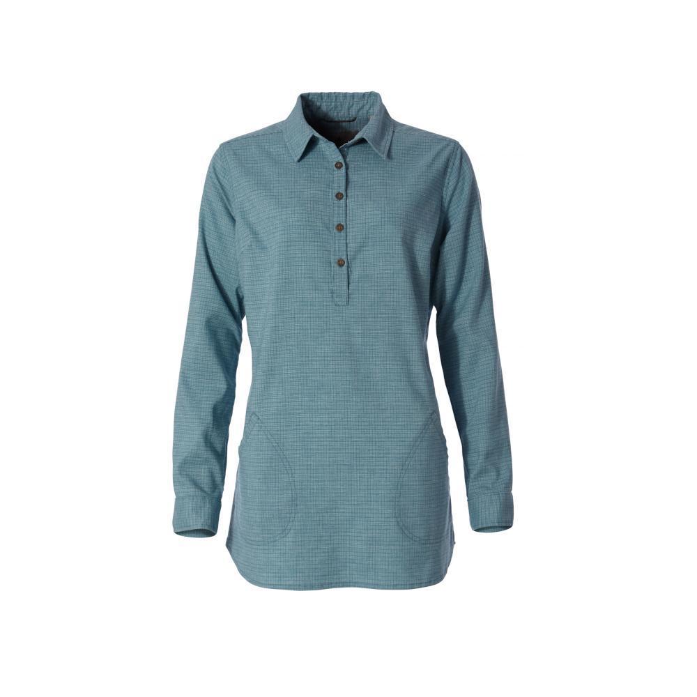 Royal Robbins Women's Hemp Blend Long Sleeve Shirt FROSTBLUE_093