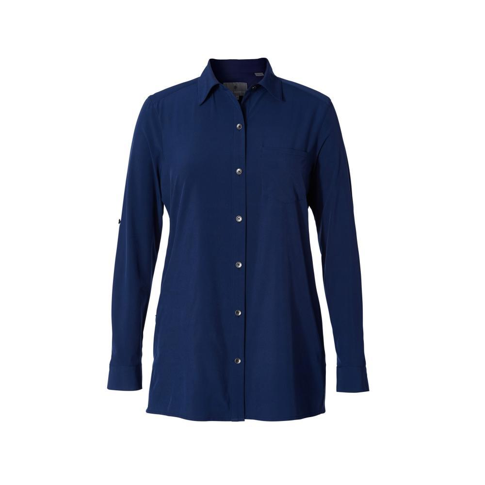 Royal Robbins Women's Spotless Traveler Long Sleeve Shirt INKBLUE_567