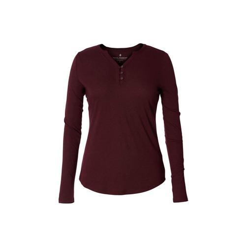 Royal Robbins Women's MerinoLUX Henley Long Sleeve Shirt Malbec_210
