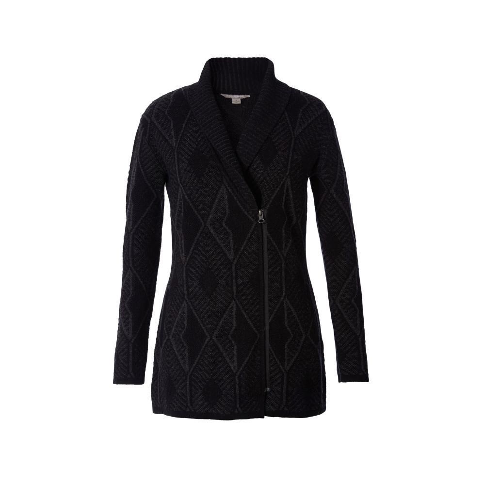 Royal Robbins Women's All Season Merino Zip Cardigan CHARCOAL_018