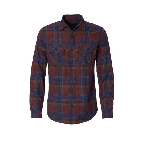 Royal Robbins Men's Lost Coast Flannel Plaid Long Sleeve Shirt Cedar74