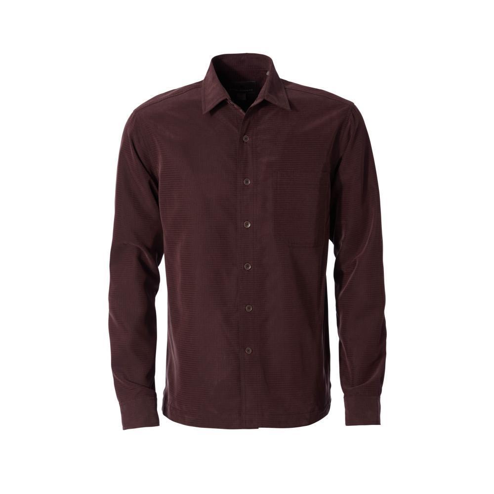 Royal Robbins Men's Desert Pucker Dry Long Sleeve Shirt MAHOGANY228