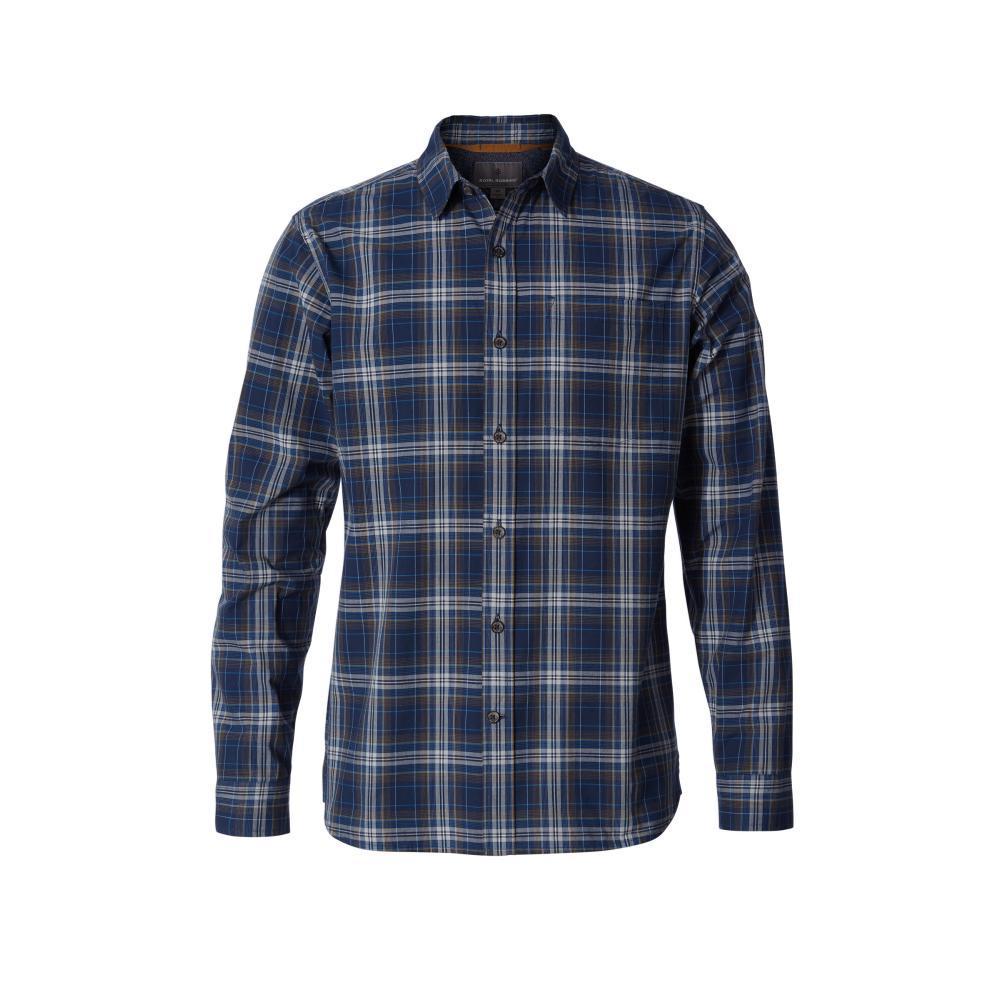 Royal Robbins Men's Trouvaille Plaid Long Sleeve Shirt DEEPBLUE722