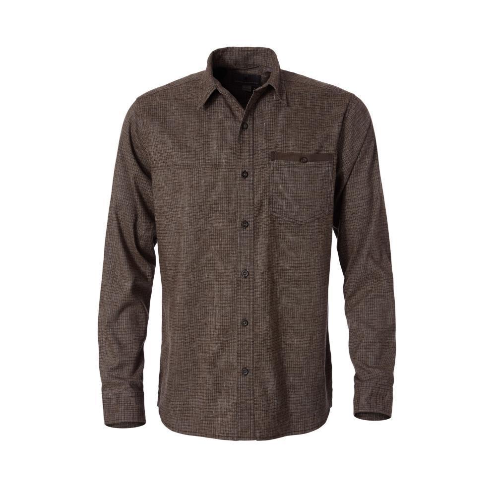Royal Robbins Men's Hemp Blend Long Sleeve Shirt COFFEE127