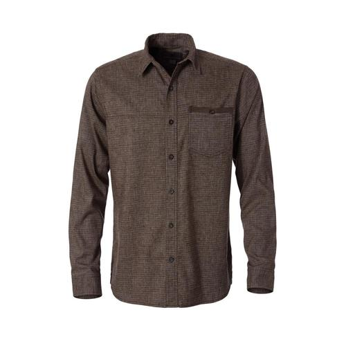 Royal Robbins Men's Hemp Blend Long Sleeve Shirt Coffee127