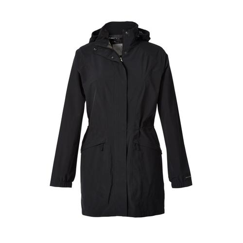 Royal Robbins Women's Oakham Trench Coat Jetblack_037