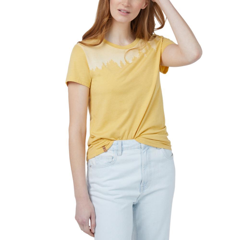 tentree Women's Juniper Short Sleeve T Shirt MISTYELLOW