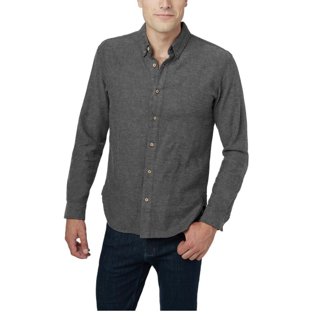 tentree Men's Veddar Button Up Long Sleeve Shirt METEORITE