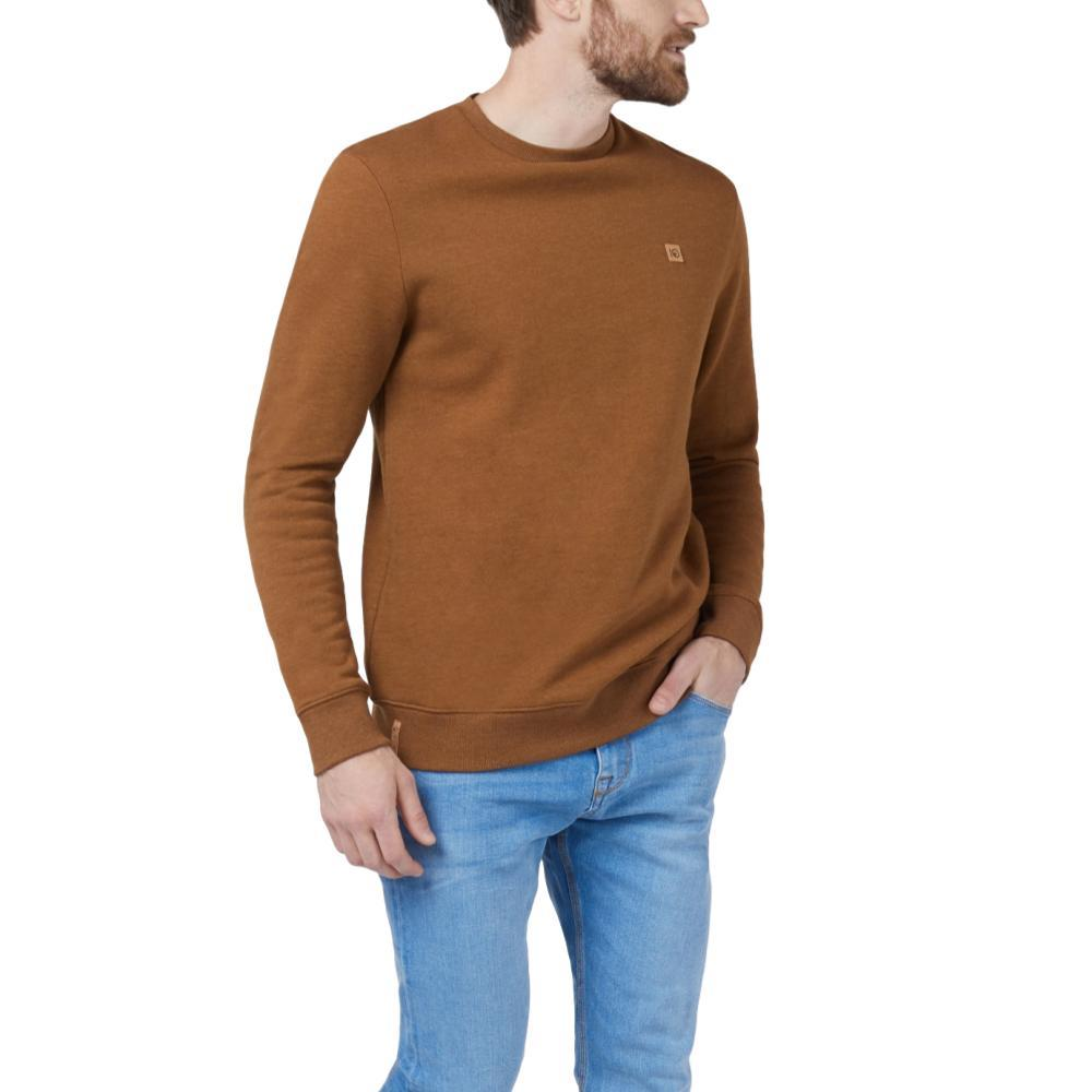 tentree Men's Standard Long Sleeve Crew RUBBERBRWN