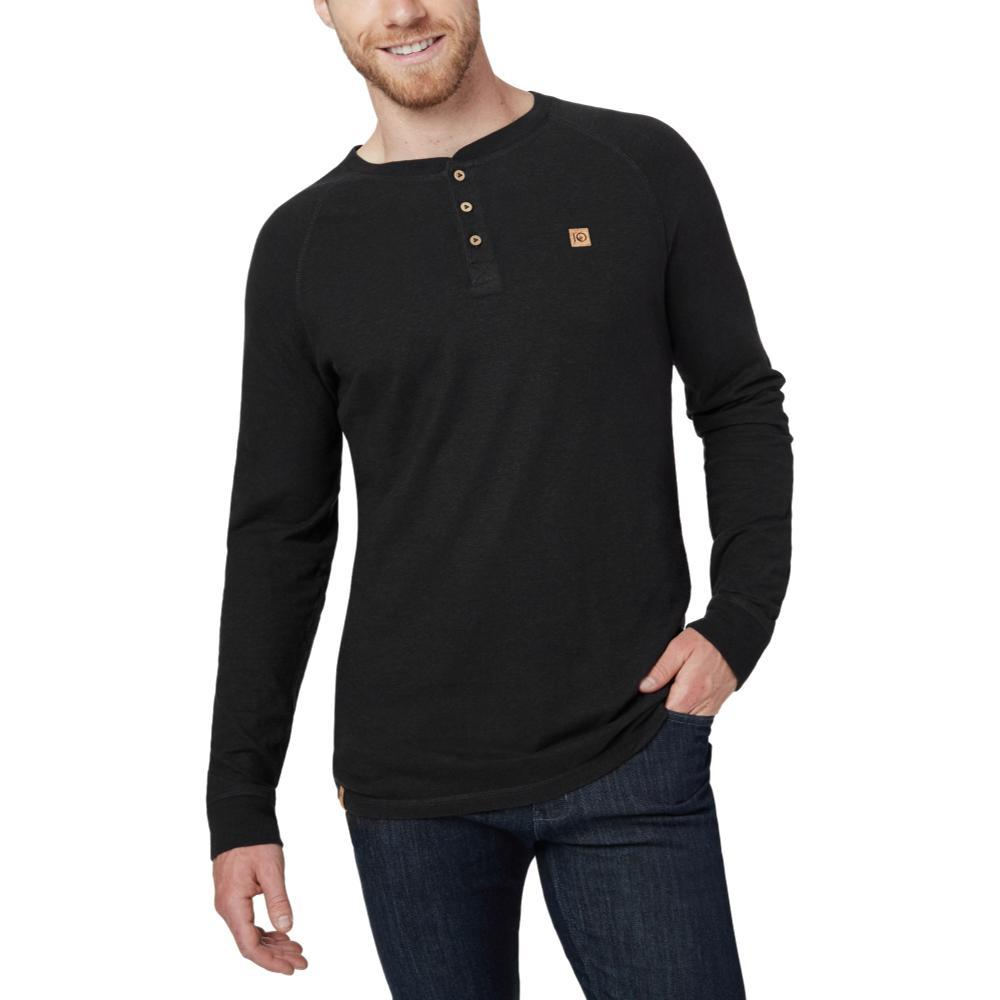 tentree Men's Boulder Long Sleeve Henley METEORITE