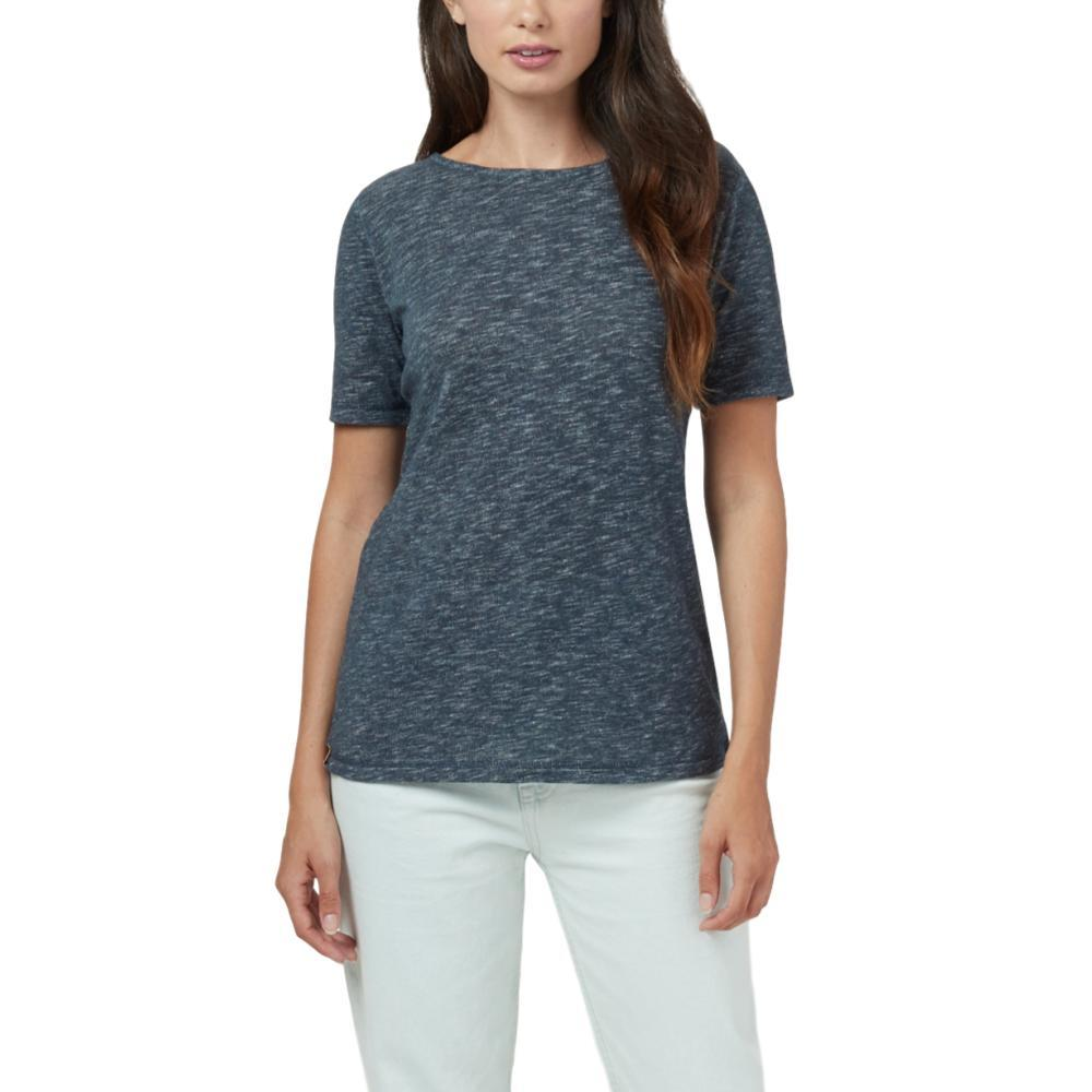 tentree Women's Klanawa Short Sleeve Top DARKOCEAN