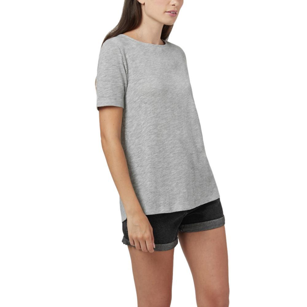 tentree Women's Klanawa Short Sleeve Top RISEGREY
